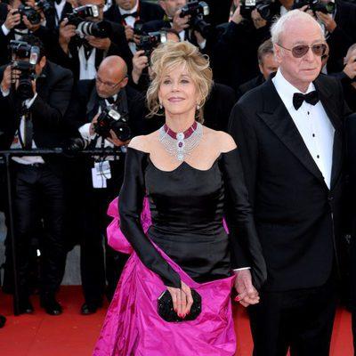 Jane Fonda y Michael Caine en la premiere de 'Youth' en el Festival de Cannes 2015