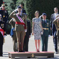 Los Reyes Felipe y Letizia en la Jura de Bandera de nuevos Guardias Reales