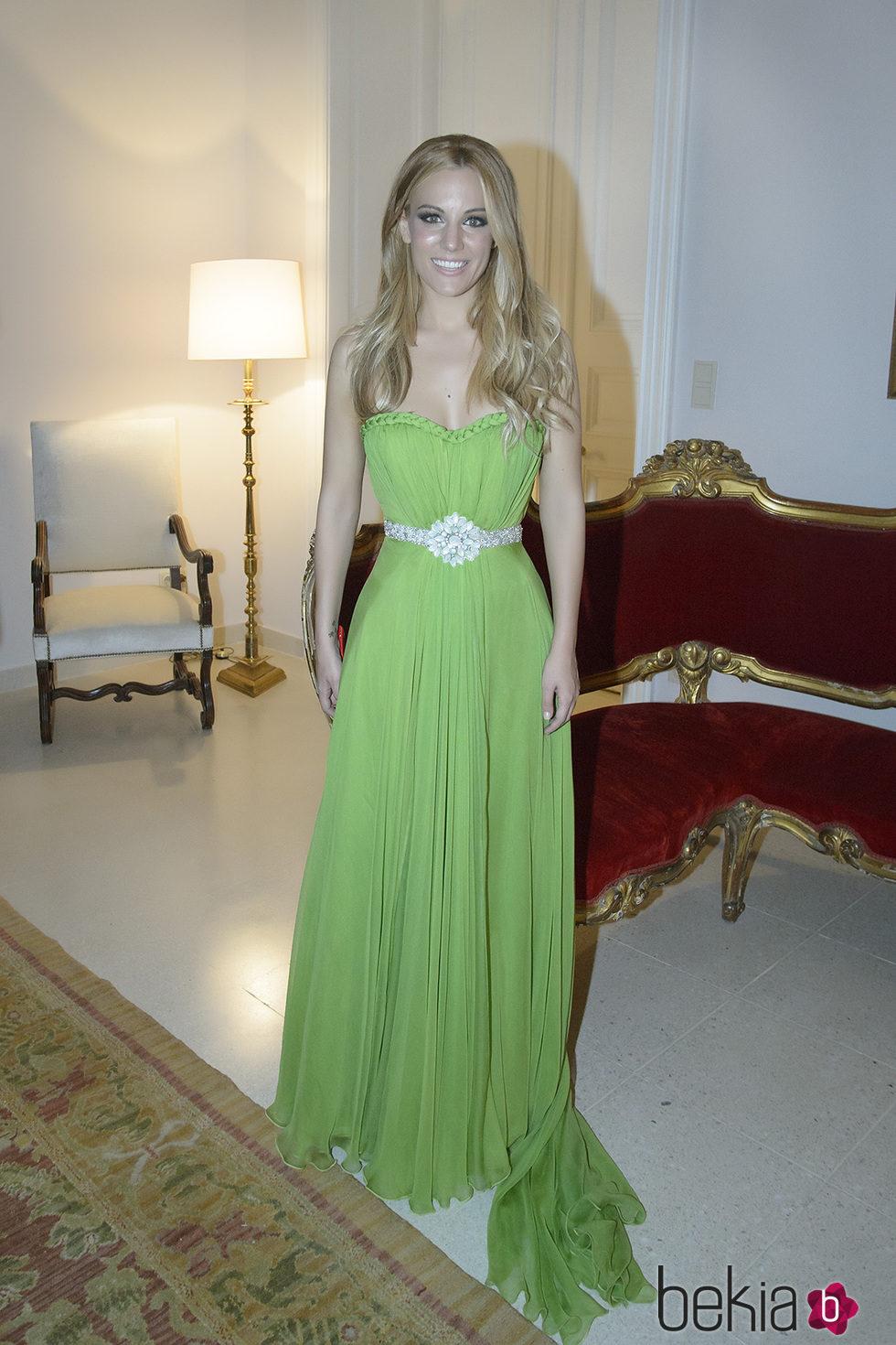 Edurne asiste a la fiesta de la embajada española en Viena por Eurovisión 2015