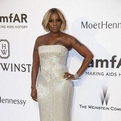 Mary J. Blige en la gala amfAR del Festival de Cannes 2015