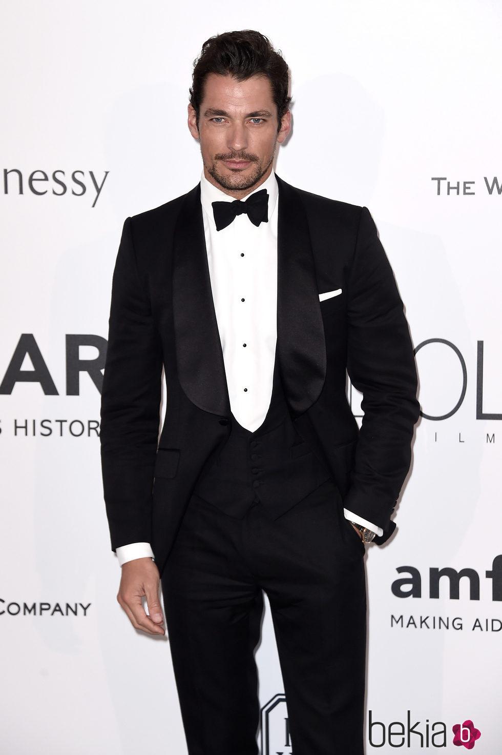 David Gandy en la gala amfAR del Festival de Cannes 2015