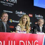 Edurne comparece ante los medios internacionales en Eurovisión 2015