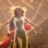 Edurne con su segundo vestido en Eurovisión 2015
