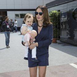 Tamara Ecclestone con su hija Sophia en el GP de Mónaco 2015