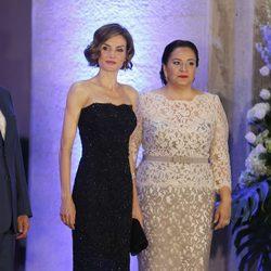 La Reina Letizia y la Primera Dama hondureña Ana García en una cena de gala en Honduras