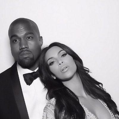 Kim Kardashian y Kanye West en una foto de su reportaje de boda