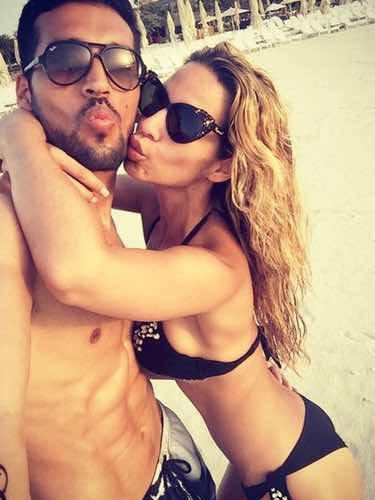 Tamara Gorro y Ezequiel Garay, de vacaciones en Dubai