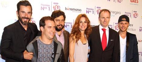 Los actores de 'Chiringuito de Pepe' en la entrega de los Premios Nos 1 de Cadena 100