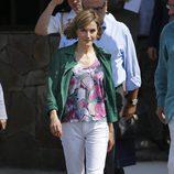 La Reina Letizia en su visita a la Casa Tomada de El Salvador