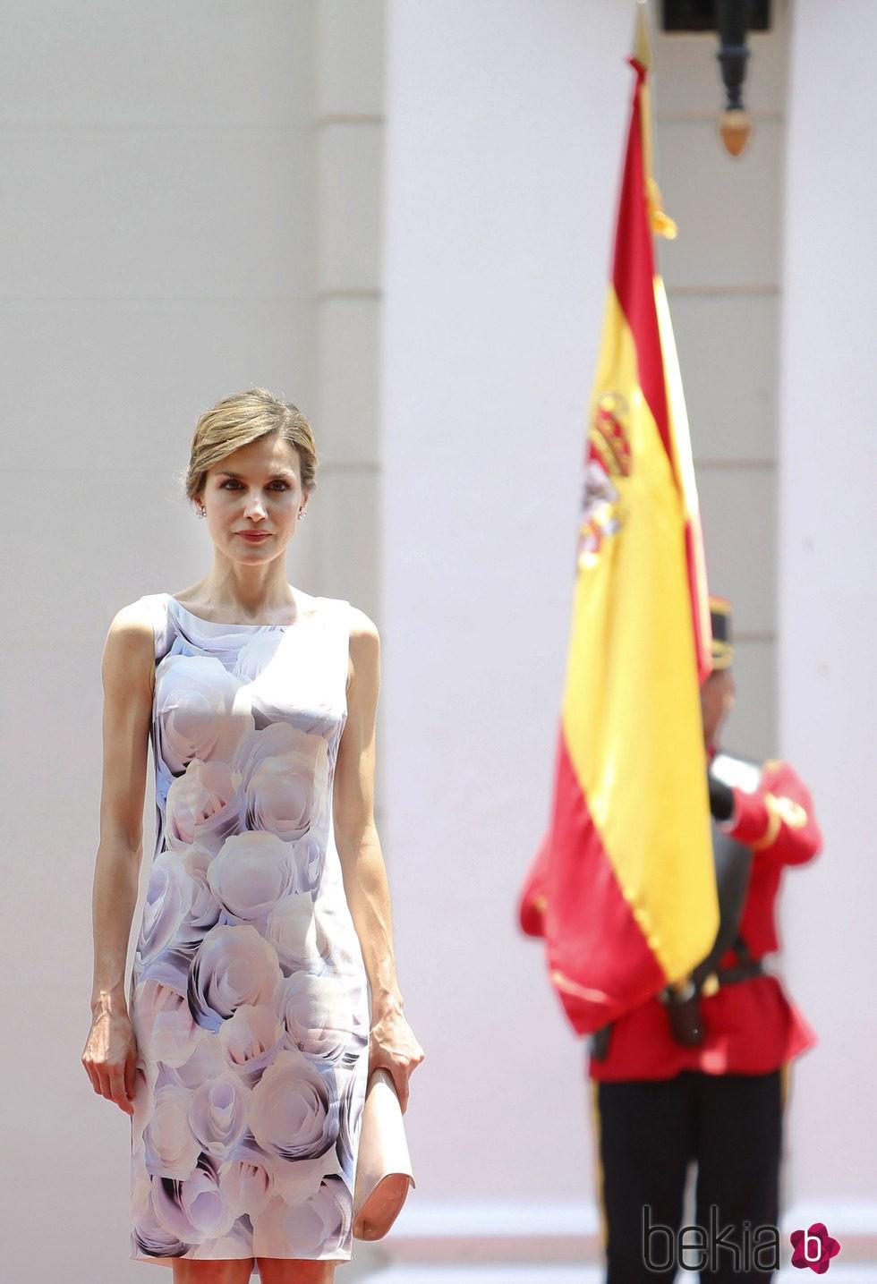 La Reina Letizia en su almuerzo de despedida antes de abandonar El Salvador
