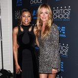Taraji P. Henson y Cat Deeley en los premios Critics' Choice Awards 2015