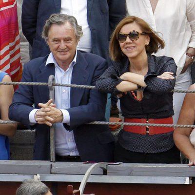 María Dolores de Cospedal e Ignacio López del Hierro en la Corrida de la Beneficencia 2015