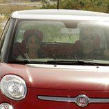 Isabel Pantoja saliendo de Cantora tras disfrutar de su primer permiso carcelario