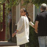 Isabel Pantoja con su hermano Agustín volviendo a la cárcel tras su primer permiso