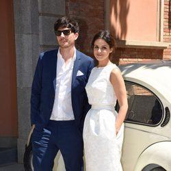 Marta Torné y Roger Gual el día de su boda