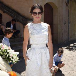 Marta Torné el día de su boda en Barcelona