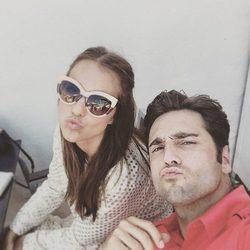 Paula Echevarría y David Bustamante se ponen besucones