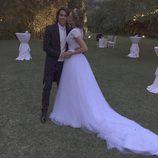 Jessica Bueno y Jota Peleteiro el día de su boda