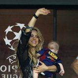 Shakira y Sasha Piqué celebran la Champions League 2015 del Barça