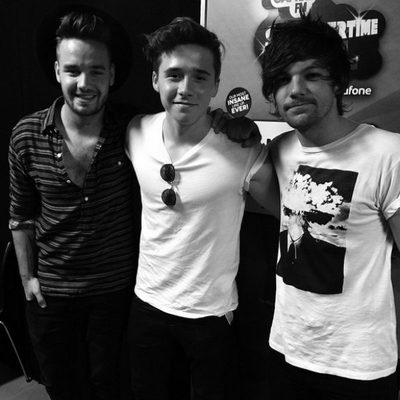 Liam Payne, Brooklyn Beckham y Louis Tomlinson en el Capital FM Summertime Ball