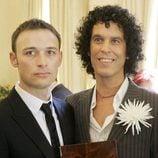 Pedro Zerolo y Jesús Santos el día de su boda