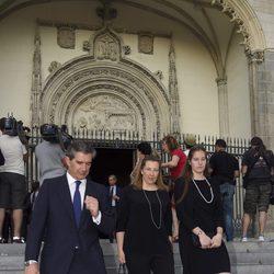 Pedro López Quesada y Cristina de Borbón-Dos Sicilias en el funeral de Kardam de Bulgaria