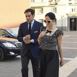 Carolina Adriana Herrera y Miguel Báez en el funeral de Kardam de Bulgaria
