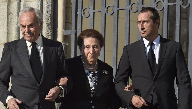 Los Duques de Soria y su hijo Alfonso Zurita en el funeral de Kardam de Bulgaria