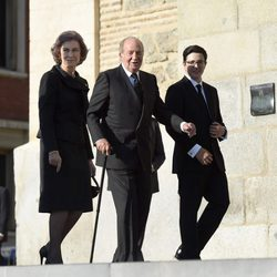 Los Reyes Juan Carlos y Sofía y Boris de Bulgaria en el funeral de Kardam de Bulgaria