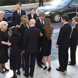 La Familia Real Holandesa con la Familia Real Búlgara en el funeral de Kardam de Bulgaria