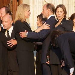 La Infanta Cristina y Kyril de Bulgaria en el funeral de Kardam de Bulgaria