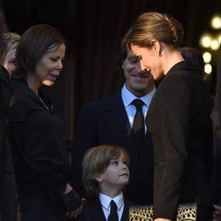 La Reina Letizia con Kalina de Bulgaria y su hijo Simeón Hassan en el funeral de Kardam de Bulgaria