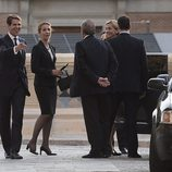 Las Infantas Elena y Cristina con Pablo de Grecia en el funeral de Kardam de Bulgaria