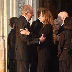 El Rey Juan Carlos y Miriam Ungría en el funeral de Kardam de Bulgaria