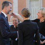 Los Reyes Felipe y Letizia con Laurentien de Holanda en el funeral de Kardam de Bulgaria