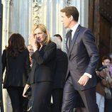 La Infanta Cristina con su primo Pablo de Grecia en el funeral de Kardam de Bulgaria