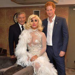 Tony Bennett, Lady Gaga y el Príncipe Harry