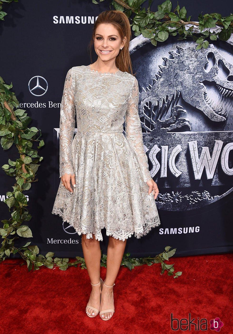 María Menounos en el estreno de 'Jurassic World' en Los Angeles
