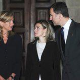 Los Reyes Felipe y Letizia y la Infanta Cristina