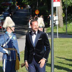 Haakon de Noruega en la cena de gala previa a la boda de Carlos Felipe de Suecia y Sofia Hellqvist