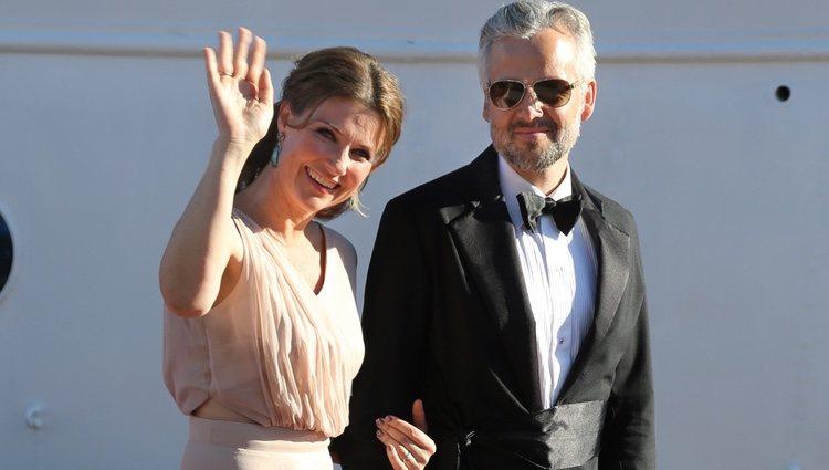 Marta Luisa de Noruega y Ari Behn en la cena de gala previa a la boda de Carlos Felipe de Suecia y Sofia Hellqvist