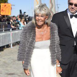 Brígida de Suecia en la cena de gala previa a la boda de Carlos Felipe de Suecia y Sofia Hellqvist
