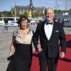 Erik y Marie Hellqvist en la cena de gala previa a la boda de Carlos Felipe de Suecia y Sofia Hellqvist