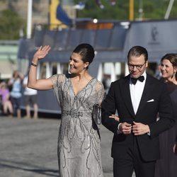 Victoria y Daniel de Suecia en la cena de gala previa a la boda de Carlos Felipe de Suecia y Sofia Hellqvist