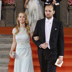 Sara Hellqvist y Oskar Bergman en la boda de Carlos Felipe de Suecia y Sofia Hellqvist