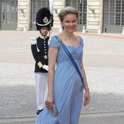Matilde de Bélgica en la boda de Carlos Felipe de Suecia y Sofia Hellqvist