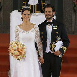 Carlos Felipe de Suecia y Sofia Hellqvist el día de su boda