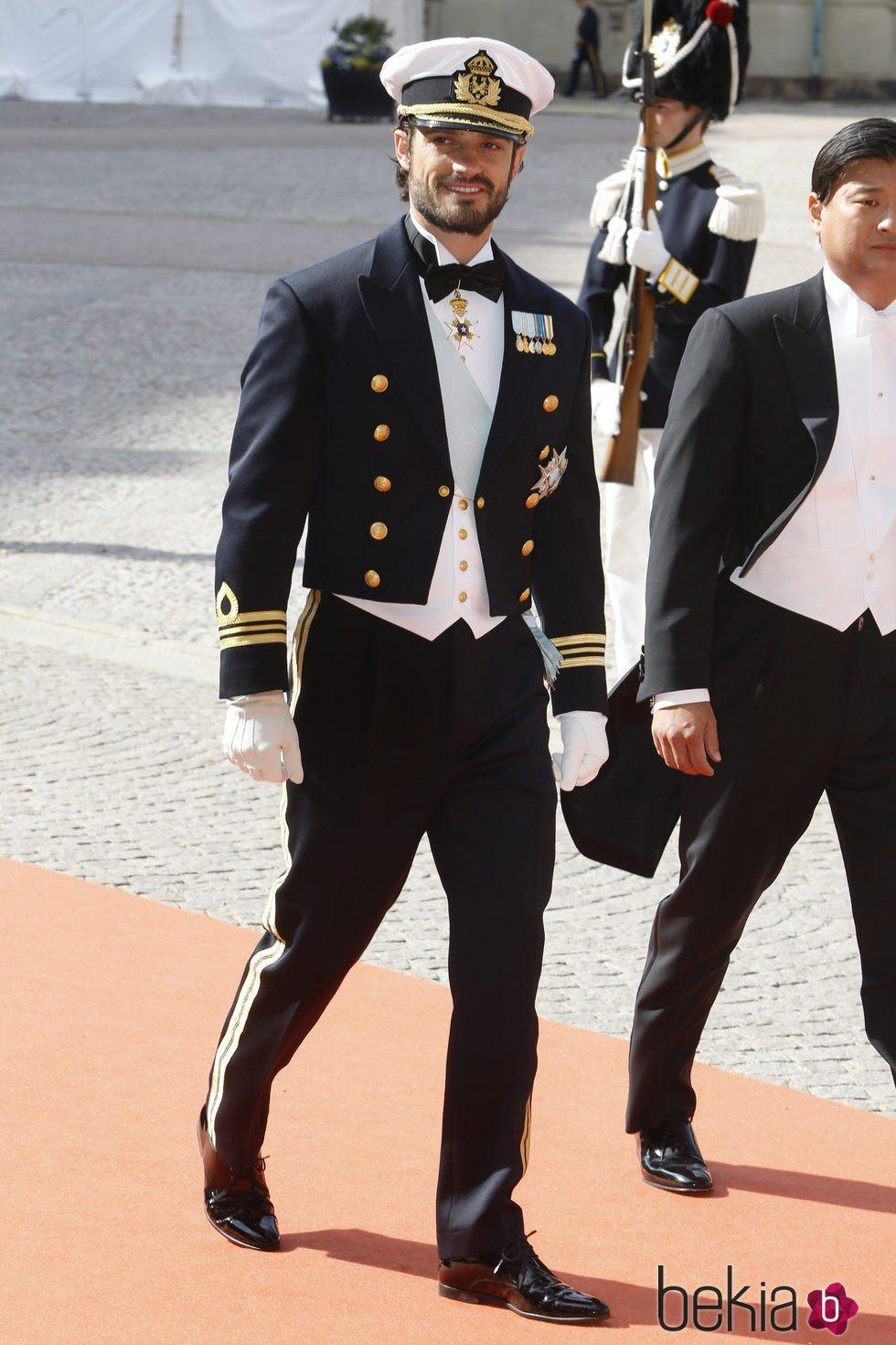 Carlos Felipe de Suecia el día de su boda con Sofia Hellqvist