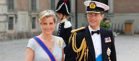 Los Condes de Wessex en la boda de Carlos Felipe de Suecia y Sofia Hellqvist