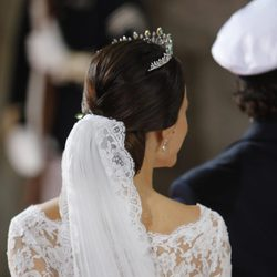 El velo de Sofia Hellqvist en su boda con Carlos Felipe de Suecia